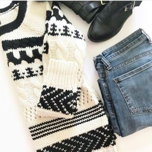 American Eagle Outfitters wool cable knit sweater